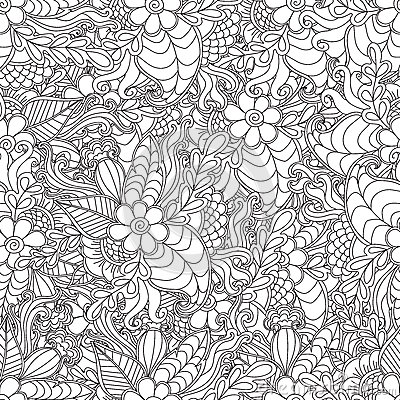 Free Pages For Adult Coloring Book. Hand Drawn Artistic Ethnic Ornamental Patterned Floral Frame In Doodle. Stock Photography - 70900912