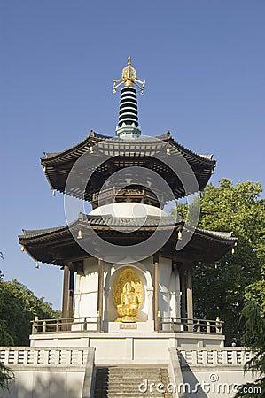 Pagoda de paix de stationnement de Battersea