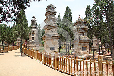 Pagoda Forest at the Temple in Shao Lin