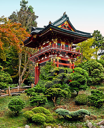 Free Pagoda In The Japanese Tea Garden Stock Images - 23334684