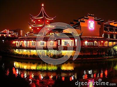 Pagoda at night