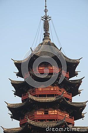Pagoda proche vers le haut