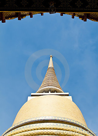Pagoda of Ratchabophit temple in Bangkok