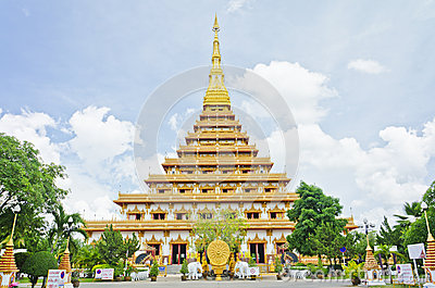 pagoda at Thai temple style in Khon Kaen Thailand