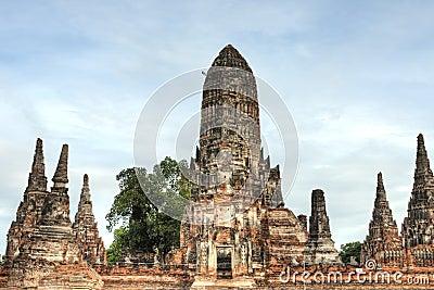 Pagoda at Wat Chaiwattanaramn, Ayutthaya, Thailand