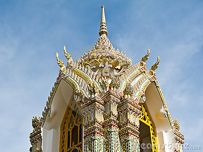 Pagoda at Wat Ratchabophit , Bangkok Thailand