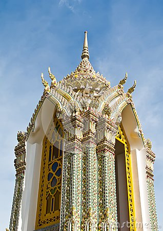 Pagoda at Wat Ratchabophit temple,Thailand