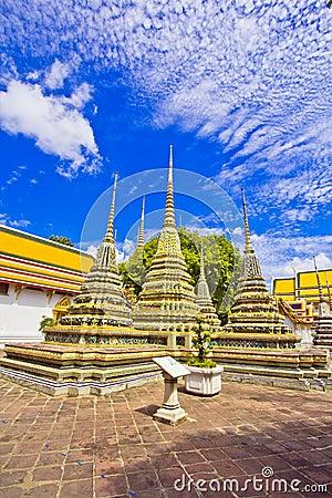 Pagodas of died people at Wat Pho