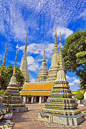 Pagodas of died people at Wat Pho