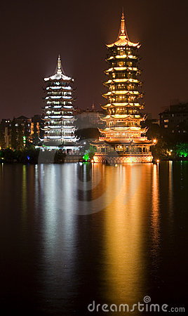 Free Pagodas Guilin China Stock Photo - 3089880