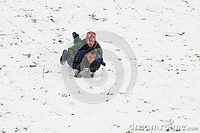 Pai e filho no sledge