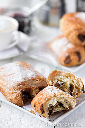 Pain au Chocolate & coffee