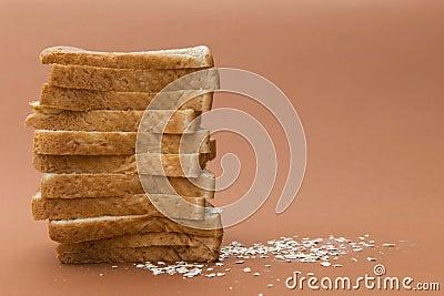 Pain grillé de blé