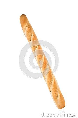 Pain français blanc de baguette