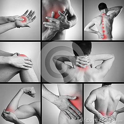 Free Pain In A Man S Body Stock Photography - 53045062