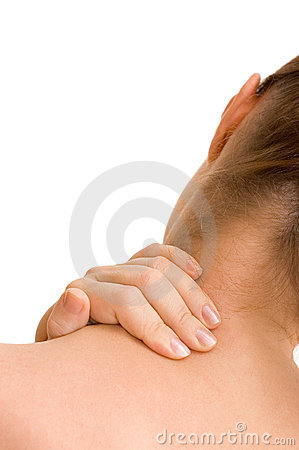 Free Pain In A Neck At The Woman Royalty Free Stock Image - 17069776