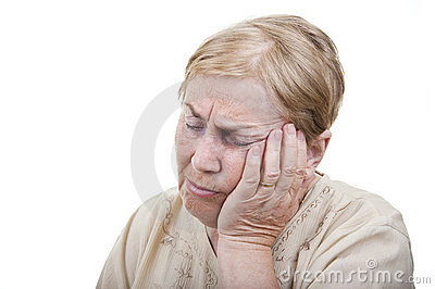 Toothache old woman