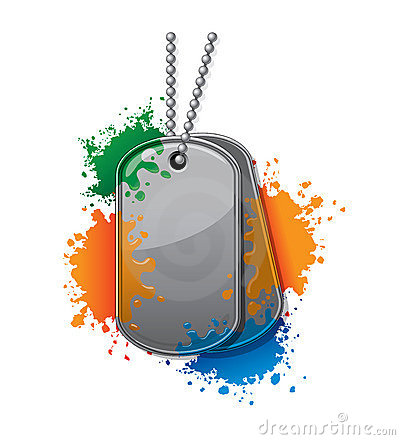 Painball army tags