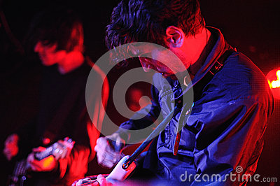 The Pains of Being Pure at Heart (band) perfoms at Sidecar stage Editorial Stock Photo