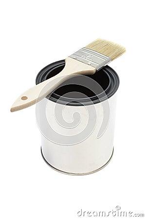 Free Paint Brush And Bucket Royalty Free Stock Photo - 478595