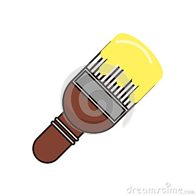 Paint brush object and school tool design Vector Illustration