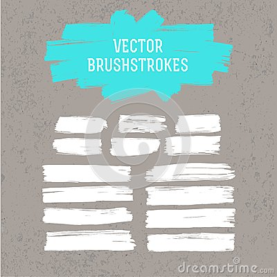 Free Paint Brush Strokes Set Royalty Free Stock Image - 50819096