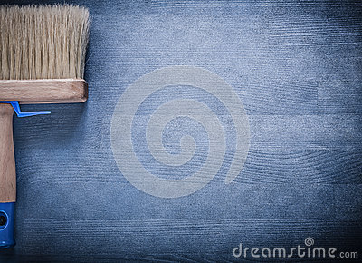 Paint brush with thick bristle on wooden board stock photo image 61685770 - Thick exterior paint concept ...