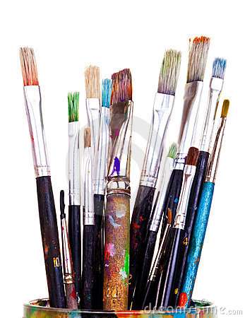 Free Paint Brushes Stock Image - 18854591