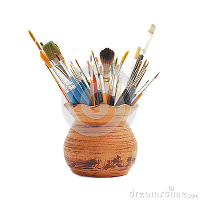 Free Paint Brushes Royalty Free Stock Images - 26802269