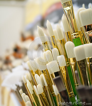 Paint Brushes on Display