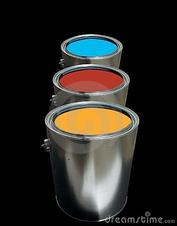 Free Paint Cans Royalty Free Stock Photography - 582207
