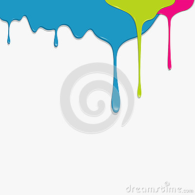 Paint colorful dripping background