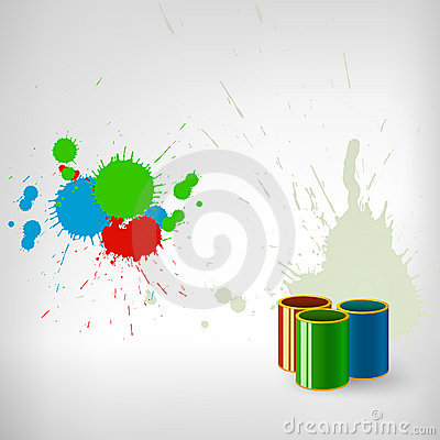 Paint colorful splash with can