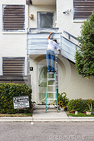 Paint contractor Editorial Image