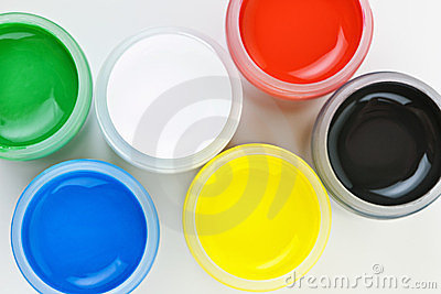 Paint of different colors