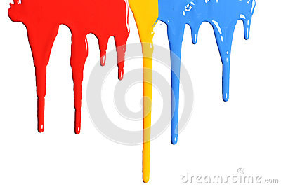Paint Dripping in primary colors