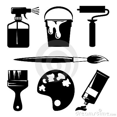 Free Paint Icons Stock Photos - 15034763