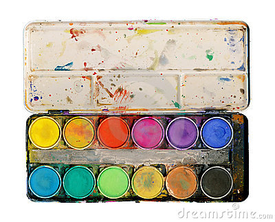 Paint Palette Isolated On White Background Stock Photo