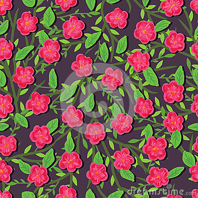 Free Paint Pink Flower Seamless Pattern Royalty Free Stock Photography - 59710697