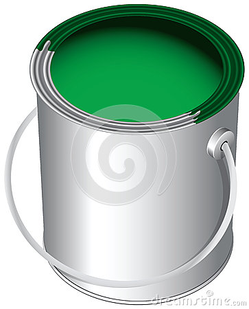 Paint in the pot