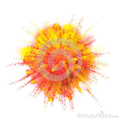 Free Paint Powder Color Explosion On Black Background Stock Photos - 85941303