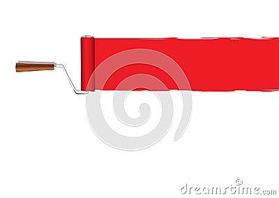 Paint roller banner