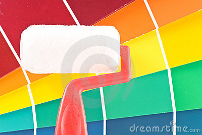 Paint Roller with Color Wheel