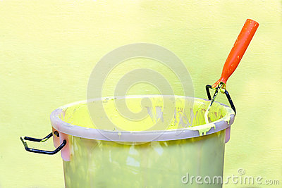 Paint-roller and Paint bucket