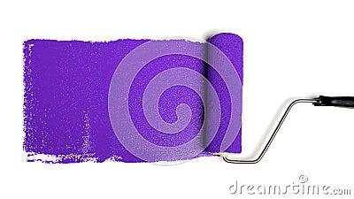 Paint Roller With Purple Paint