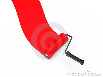 Paint roller red