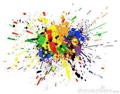 Paint Spill Stock Photo Image 2545160