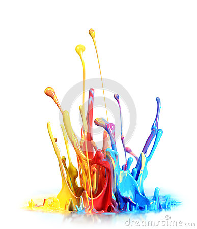 Free Paint Splash Stock Image - 25487701