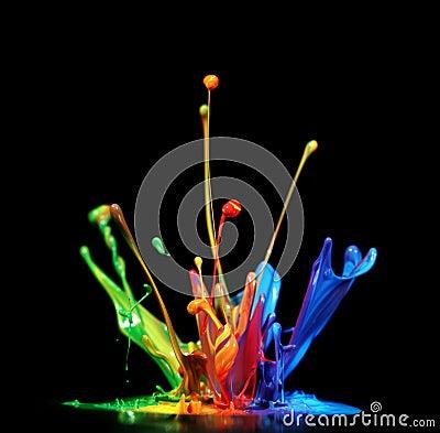 Free Paint Splash Royalty Free Stock Photos - 26258438