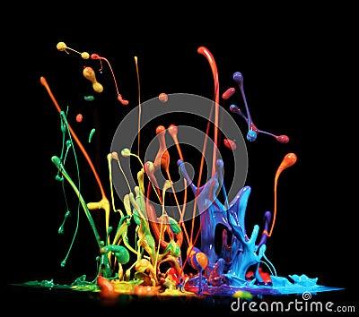 Paint splashing
